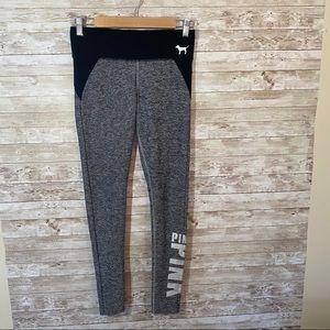 VS Pink Gray and Black Yoga Leggings Size XS